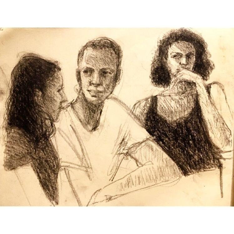 People watching - people, sketch - yuliavirko | ello