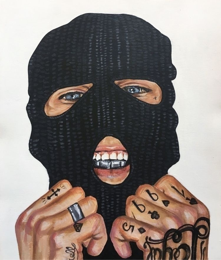 balaclava, portrait, youth, tattoos - aoifedillon | ello