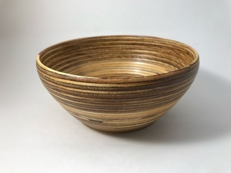 Turned bowl plywood - woodwork, turning - pitmandesigns | ello