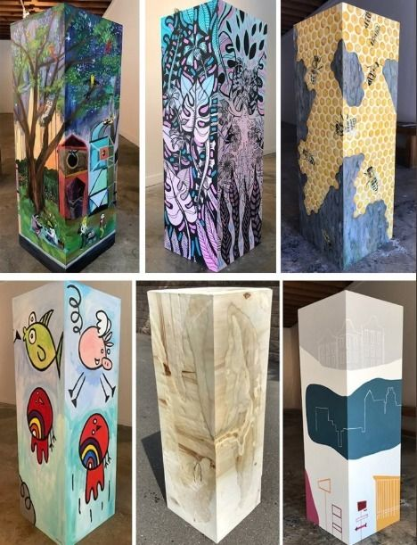 Check pedestals project! artist - blflood | ello