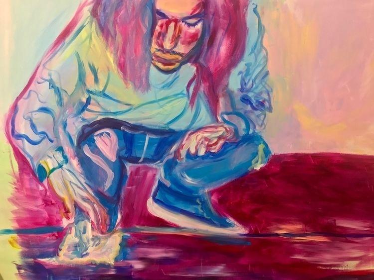 'Art Sam' acrylic painting. pai - zoejinx | ello