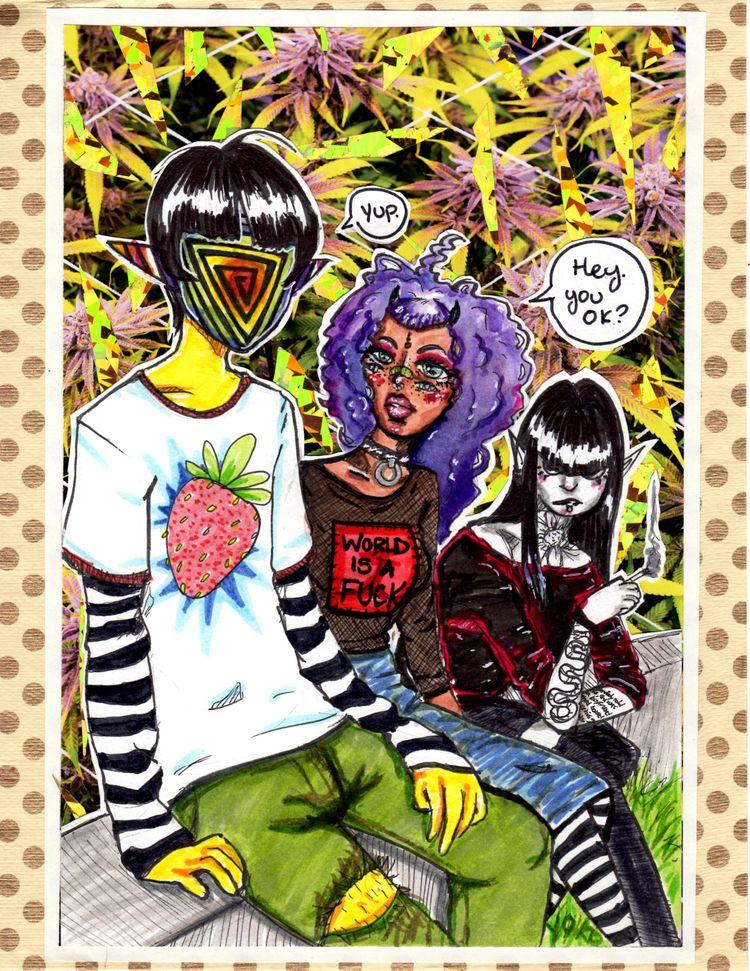 Trans-ient - 8x10, watercolor,  - yokoportfolio | ello
