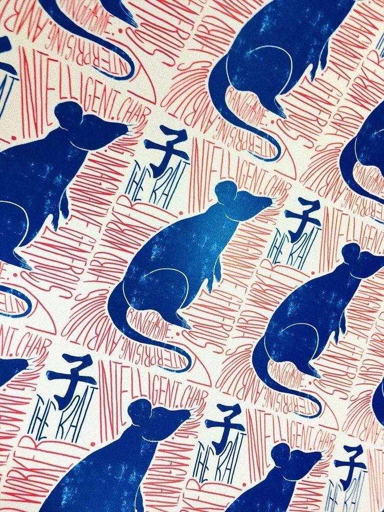 子 Rat drawing series - ChineseZodiac - ranggasme | ello