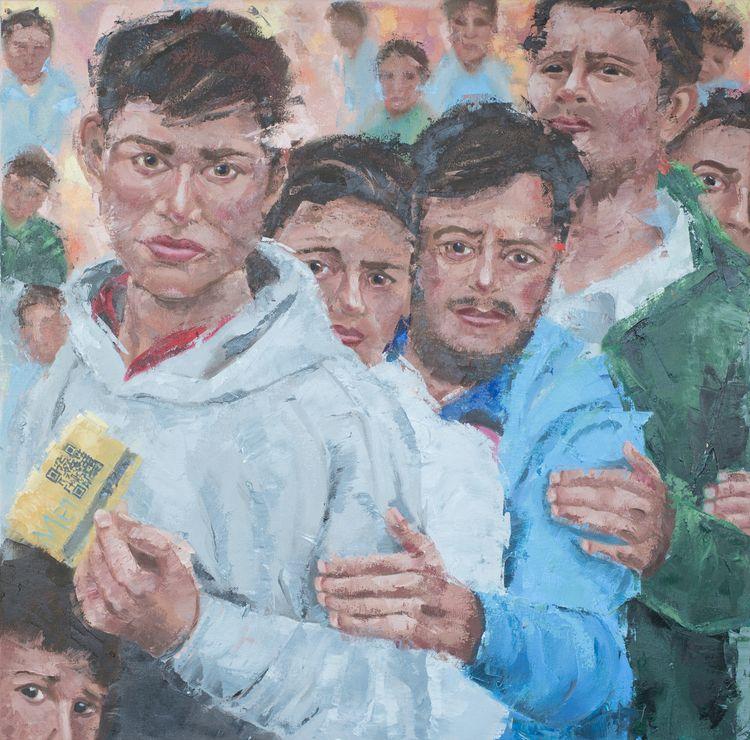 Refugees. 30 30. Oil canvas. Pa - jackrosenberg   ello