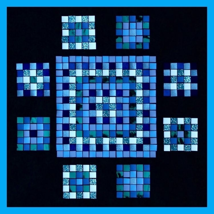 pattern ETHNIC-MOSAIC blue mix  - lb2studio | ello