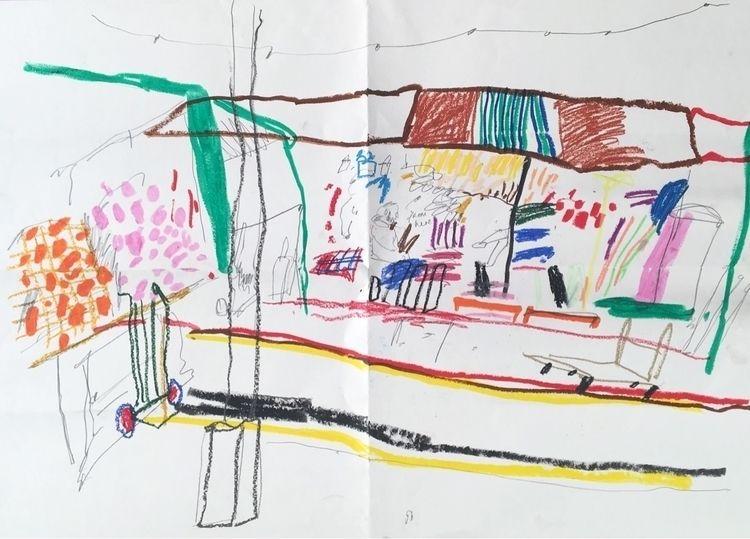 A0 reportage drawing Bush Marke - lydiahamblet | ello
