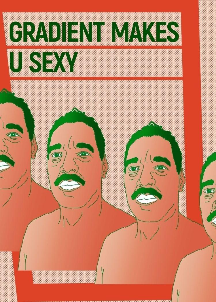 Gradient sexy poster - illustration - dadakirei | ello