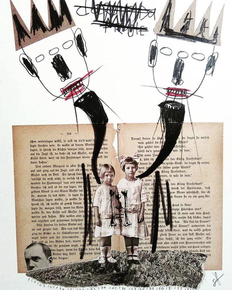 art, collage, mixmedia, bristolpaper - sanchezisdead | ello