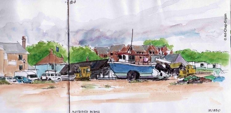 828 - Aldeburgh beach wandering - artchapenjoin | ello