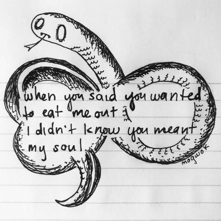 .............  - snake, liar, ouroboros - mogwok | ello