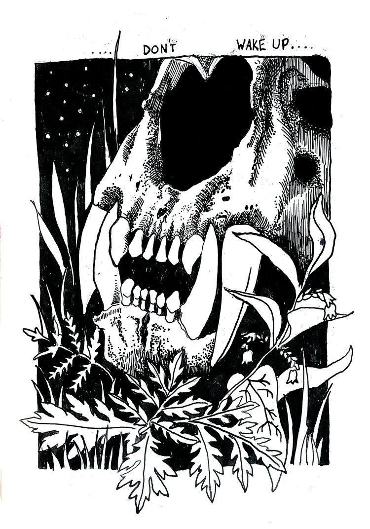 Dont wake Pen-Graphite - illustration - polkip | ello