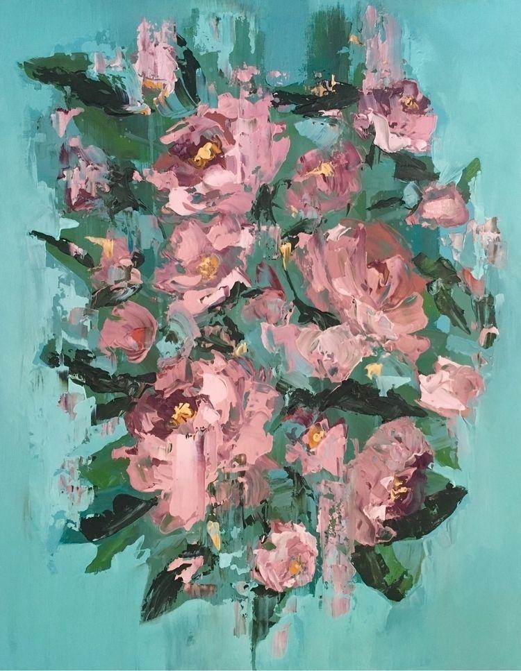 Roses botanicals series. Acryli - meredithmarsone | ello