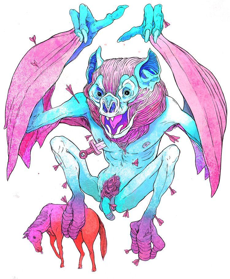 Vampire Bat Progress! Frost Col - tarikmask67 | ello