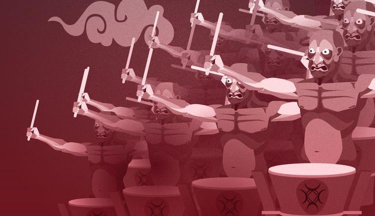 Chinese demon drummers - krankcrabs | ello