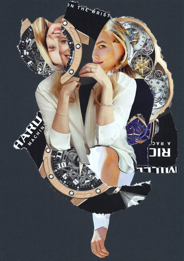 Hour Hand - collage, dada, popart - graemejukes | ello