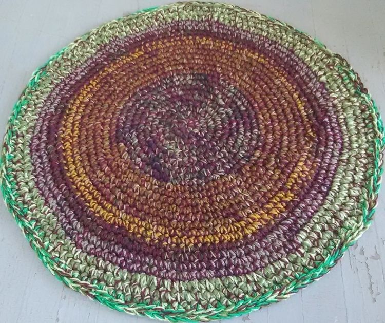 SOLD...Handmade Crochet Rug 40  - maryherrigfiberarts | ello