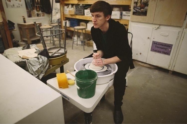 Man wheel clay) forms technolog - chrisswazie-ceramics | ello