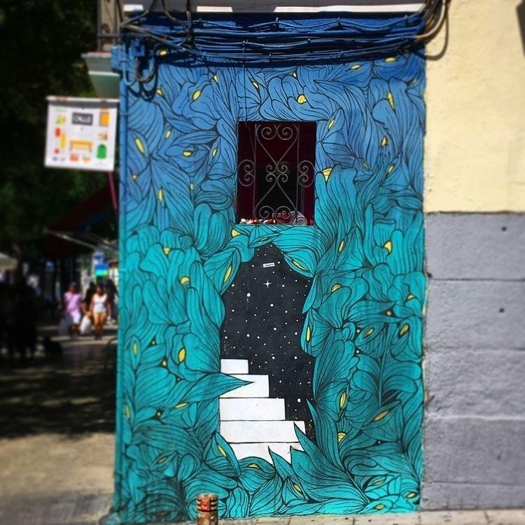 Stairway - Madrid, Lavapies, streetart - antoniofse | ello
