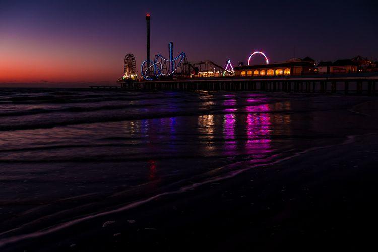 Pier Lights light day rises Gul - mattgharvey   ello