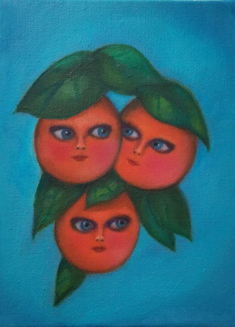 Orange County Cuties 8x10 Oil p - nora_   ello