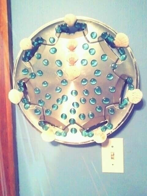 Decorated Hubcap - Upcycled, Wallart - alicelefae | ello