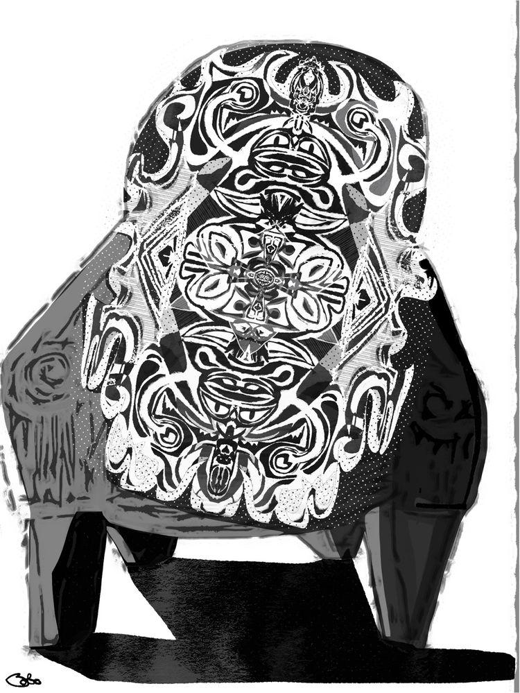 Hoary, Doily, Horror, chair, repair. - bobogolem_soylent-greenberg | ello