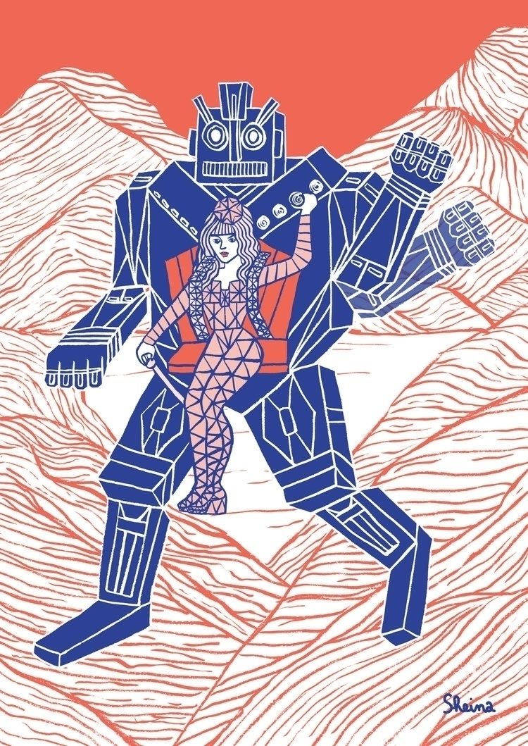 vision human technology artist  - sheina-illustration | ello