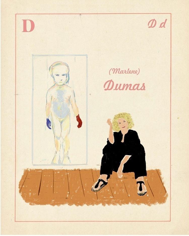 Marlène Dumas - illustration, alphabetartist - zoe_vadim | ello