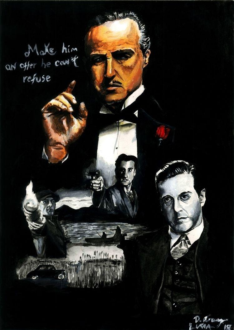Godfather gouache insta - art, godfather - dcruzlima | ello