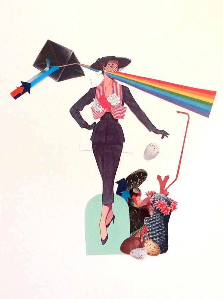 Nice girls - collage, garden, rainbow - danielletcole   ello