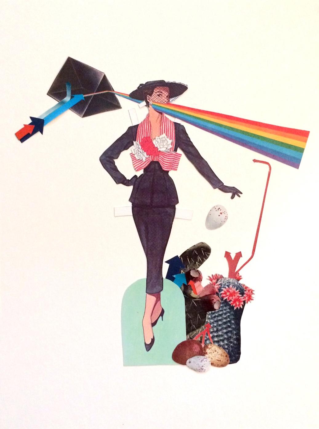 Nice girls - collage, garden, rainbow - danielletcole | ello
