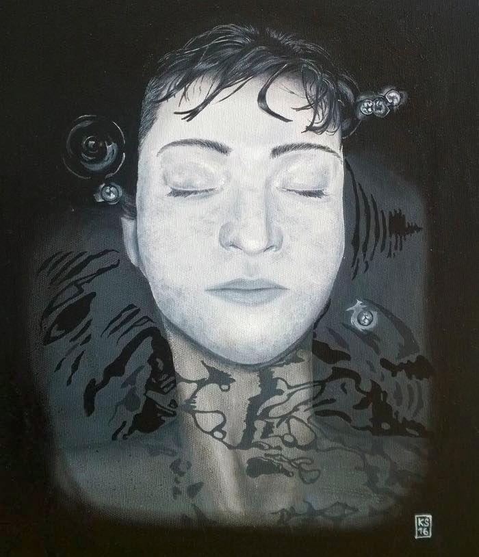 Portrait, Water Oil canvas 49x4 - katja777 | ello