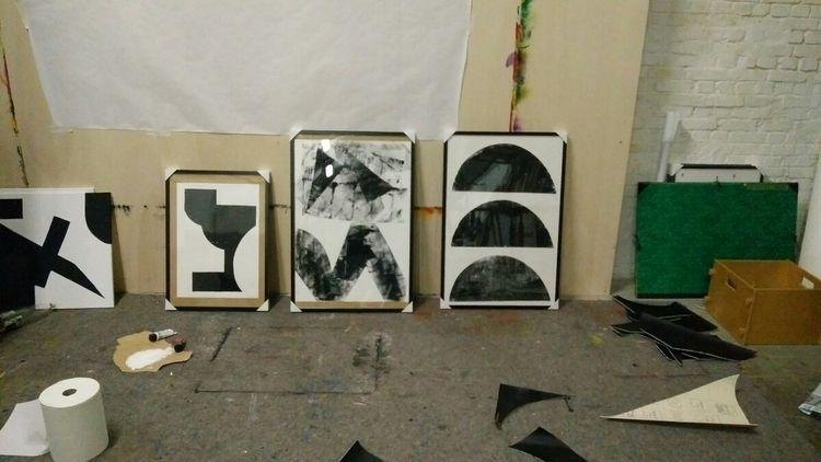 Experiments stencils Ink paper  - skrewstudio | ello