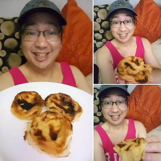 Enjoying Pasteis de Nata Custar - vicsimon | ello