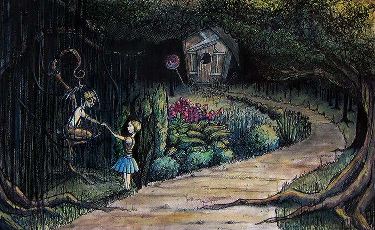 Hansel Gretel, 2012 - sharpie, watercolor - mlledarcel | ello