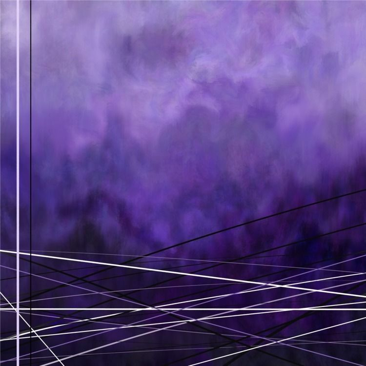 Abstract purple painting crosse - fickle_muse | ello