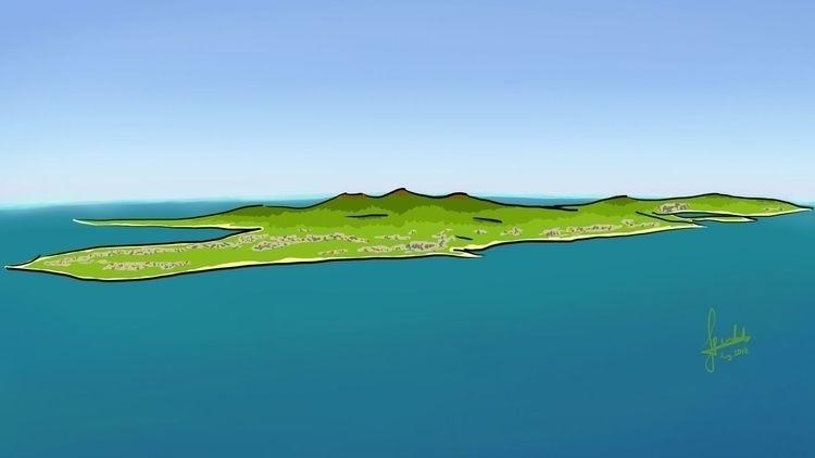 [fz_drawing] Lombok Island Isla - ferdiz | ello