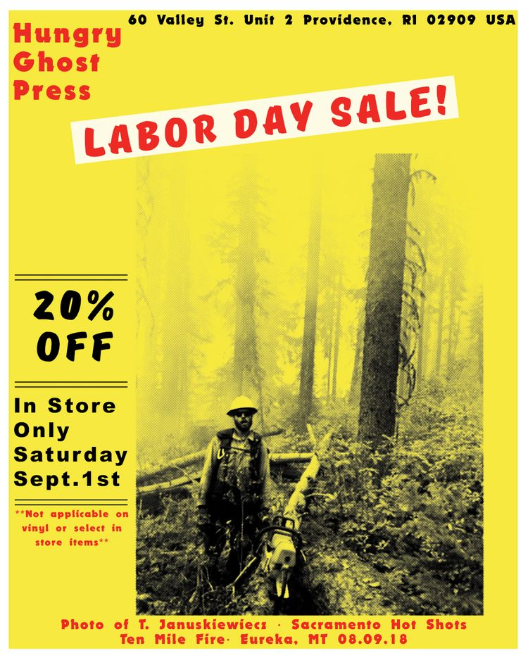 LABOR DAY SALE! 20% STORE TODAY - hungryghostpress | ello