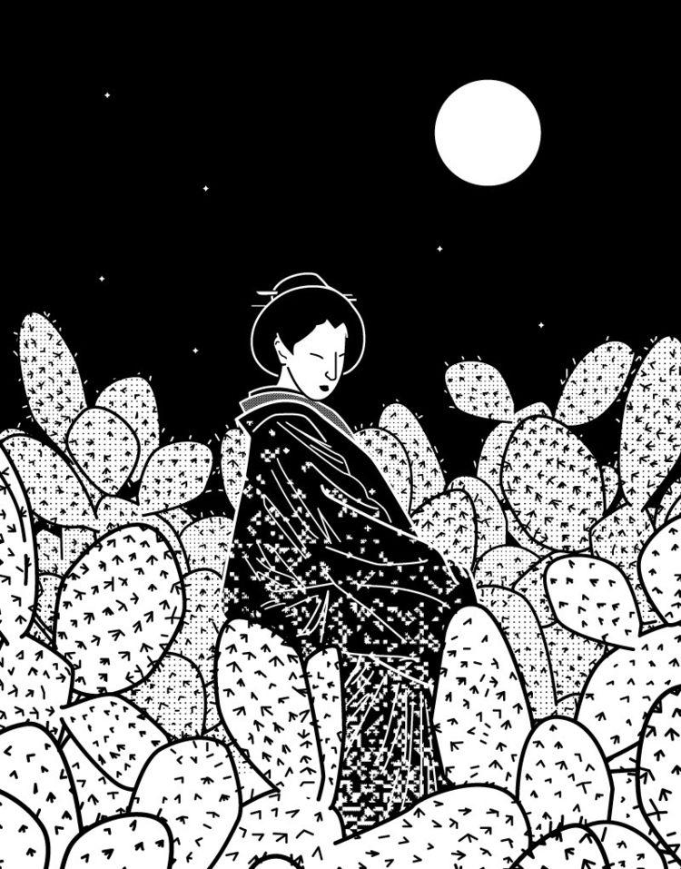 Japanese Lady Cactus Field Nigh - rqsct | ello