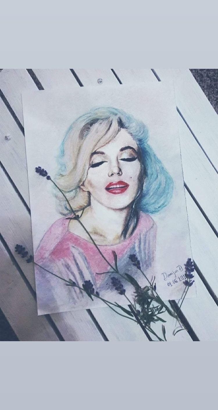 Dear Marilyn - marilynmonroe, draw - hachigatsu | ello
