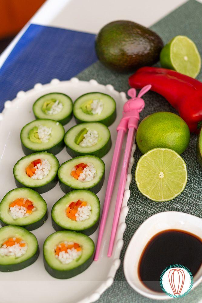 Cucumber Sushi Rolls, serve veg - twofoodies | ello