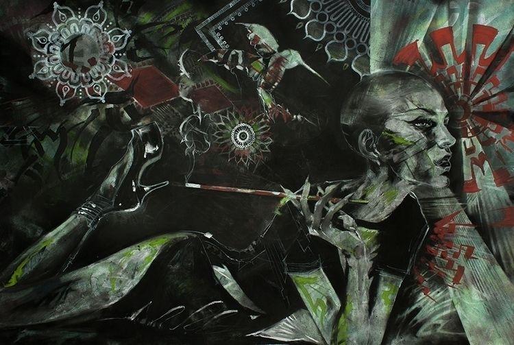 30 44 Charcoal, Graphite, Acryl - artedesnuda | ello