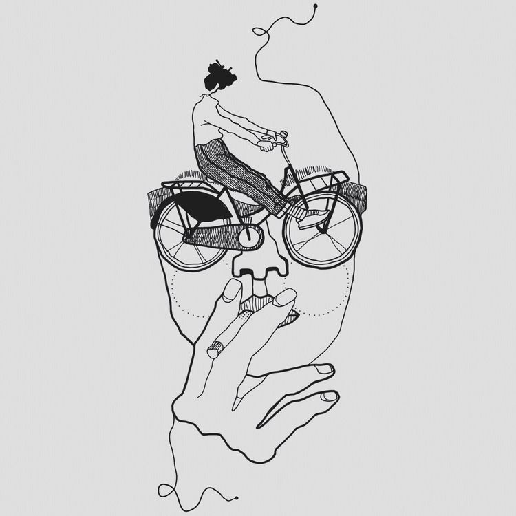 Das Augenfahrrad.  - bike, girlwithglasses - heiniistgegenalles | ello