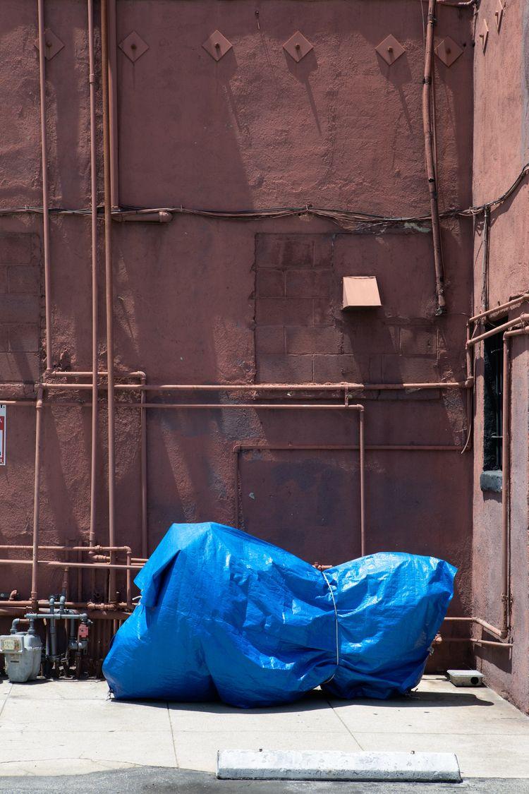Red Wall, Blue Tarp, Atwater Do - odouglas | ello