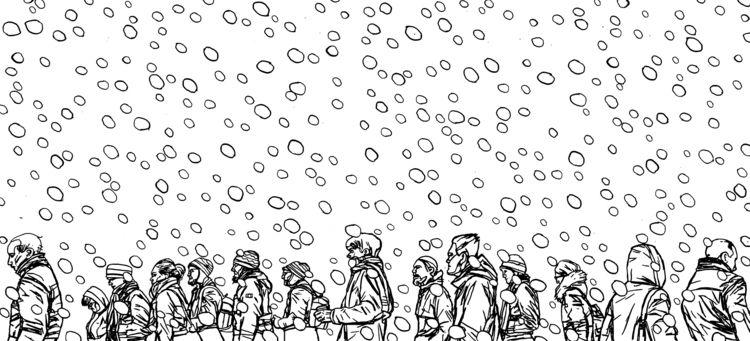 Snowing white - junkohanhero   ello