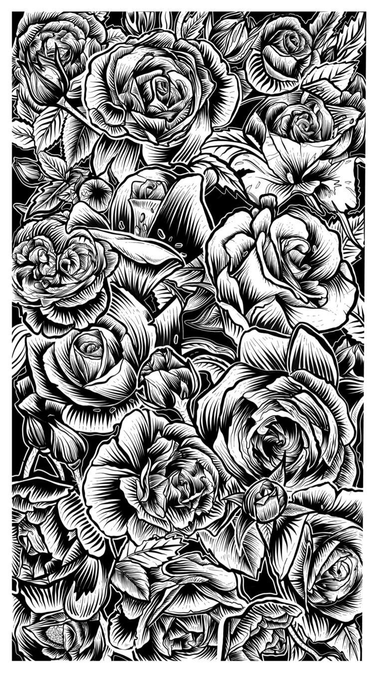 ROSES - artwork - illustration, art - freshmilkart | ello