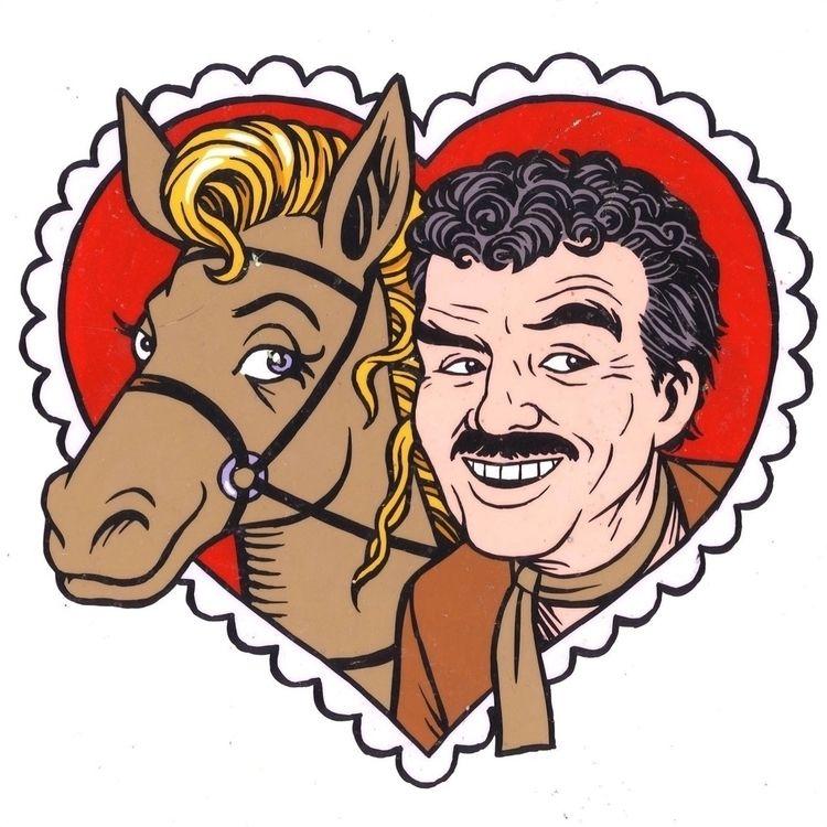 Burt Reynolds RIP (illo Enterta - dannyhellman | ello