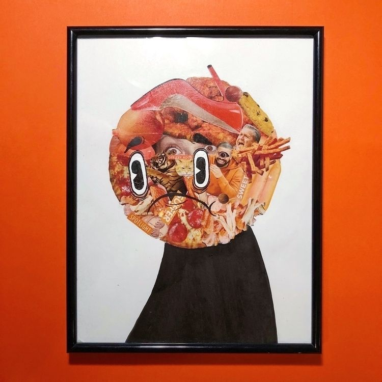 "Orange Boy. (8.5""x11"" Collage,  - zackrussellart 