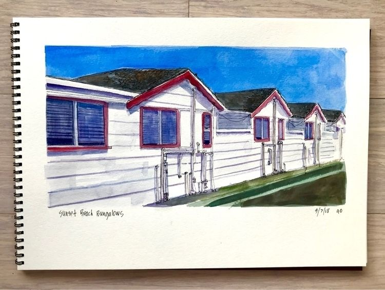 Sunset Beach Bungalows - angela_oliver_art | ello