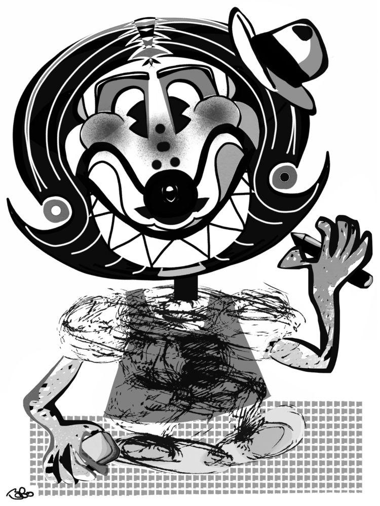 child, clown, caricaturists, created. - bobogolem_soylent-greenberg | ello